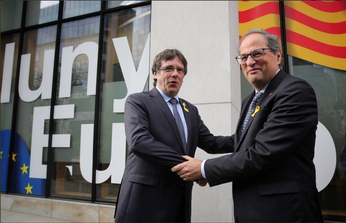 Puigdemont y Torra (Twitter Govern)