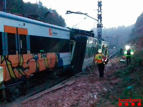 Accidente tren Vacarisses (Bombers)
