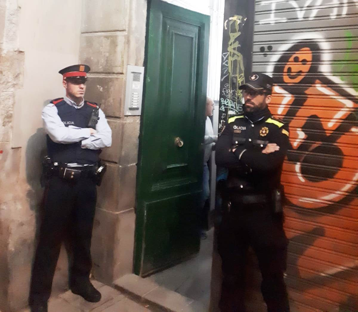 Piso drogas Gotic (Twitter Mossos)