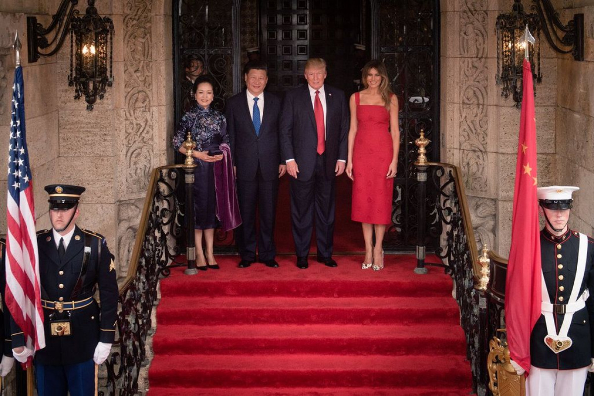 Xi Jinping y Trump (White House)